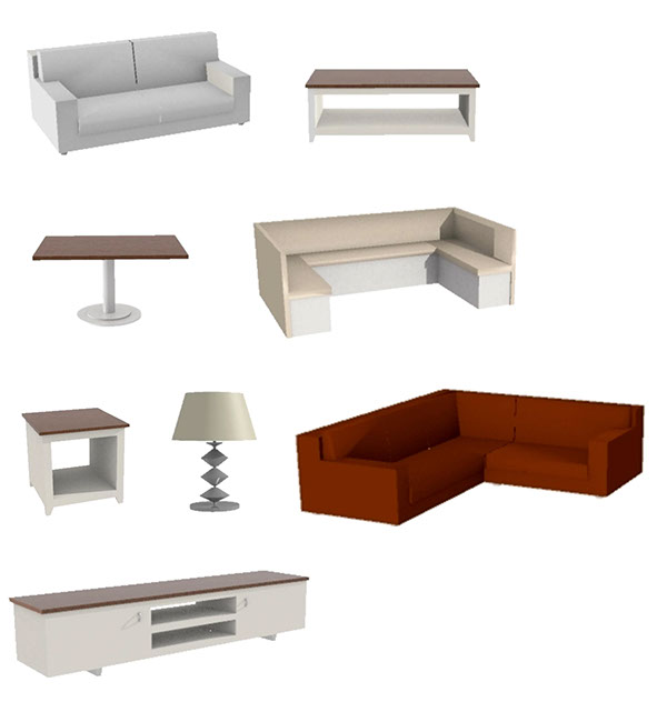 3D Furniture Models (SketchUp Project) On Behance