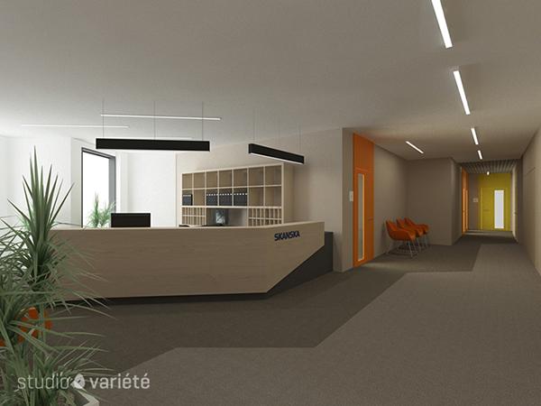 skanska office malta house on behance