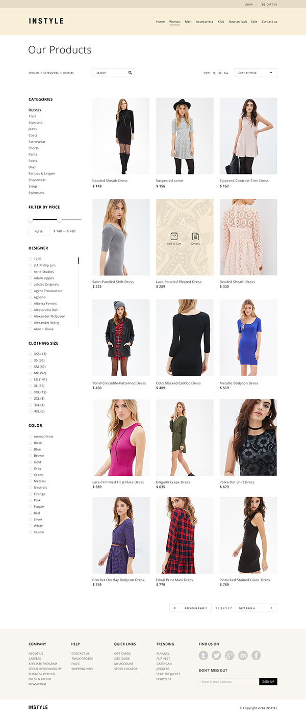 Instyle clothing store