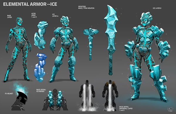 Crystal Marvel Costume Production Art--City o...