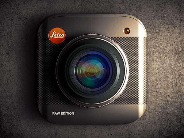ios ios7 app UI Icon camera lens Leica texture Moscow Russia