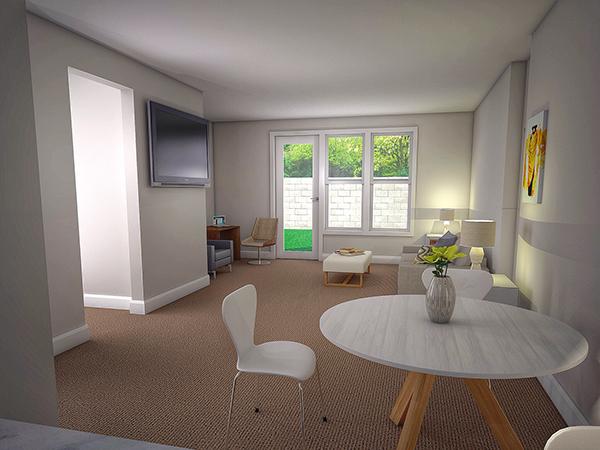 Interior 3d rendering sketchup vray on behance for Rendering 3d online gratis