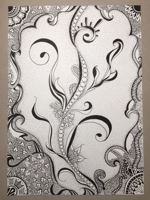 Hand Drawing Of Zentangle Flowers And Plant On Behance