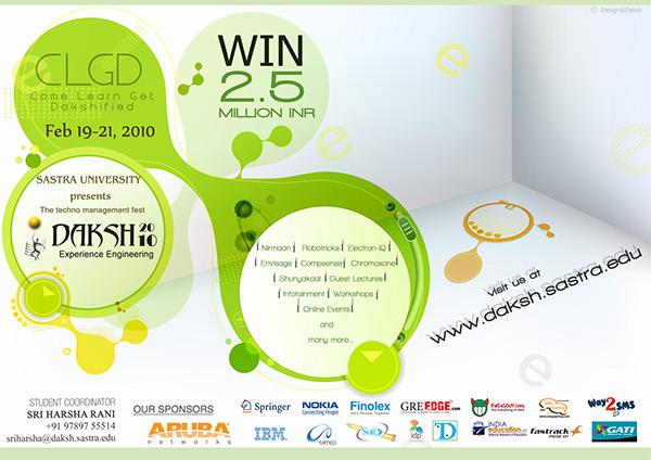 Poster Design For College Tech Fest On Behance