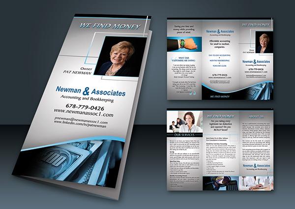 financial brochure business card design on behance