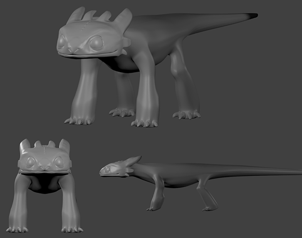 toothless how to train your dragon 2 3d model