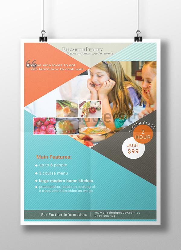 cooking school flyer on pantone canvas gallery