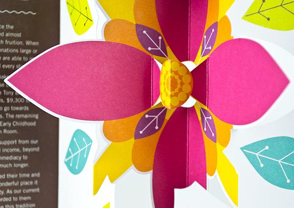 Bunbury Cathedral Grammar pop up card pop-up 3D brochure school giving donation