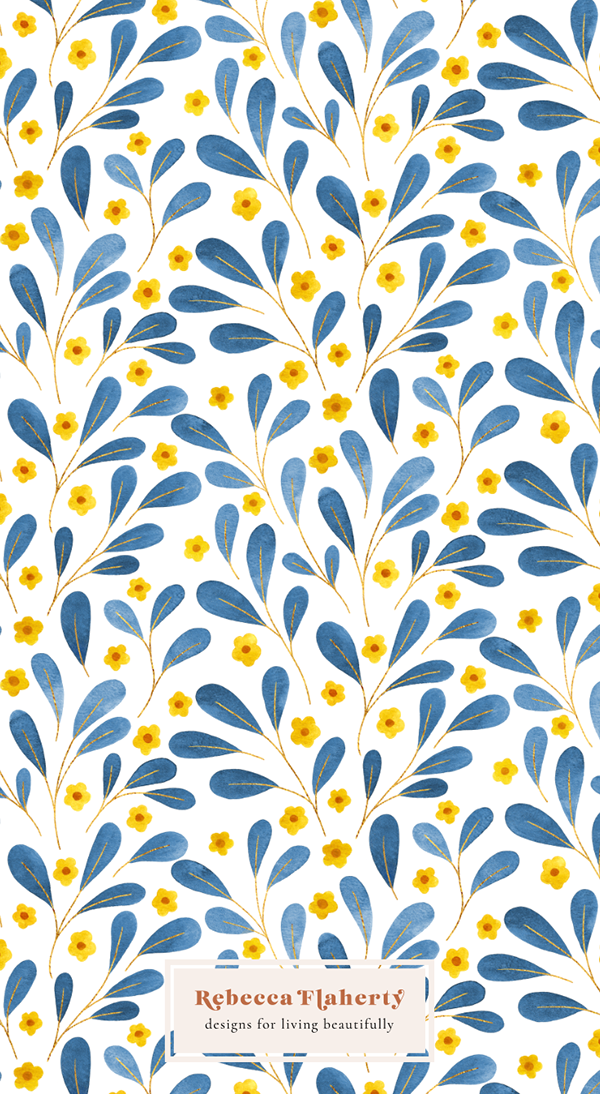 Springtime Watercolour Floral Pattern