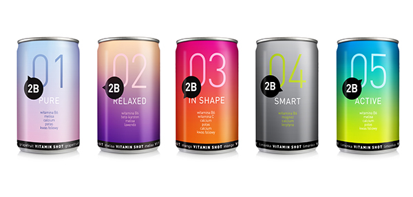 2b vitamin shots and water on behance
