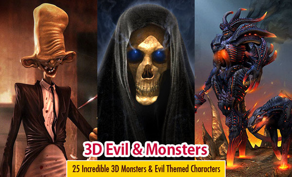 25 Incredible 3D Monsters and Evil Themed Characters on ...