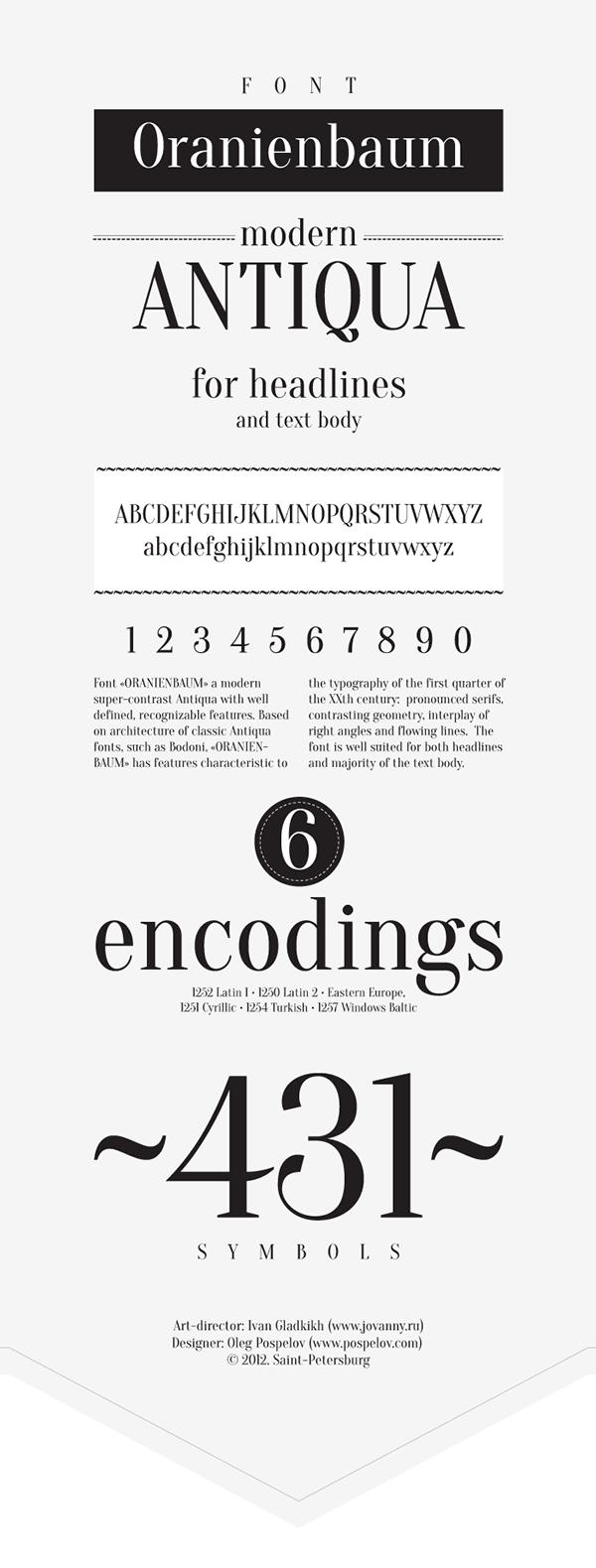 Oranienbaum free font