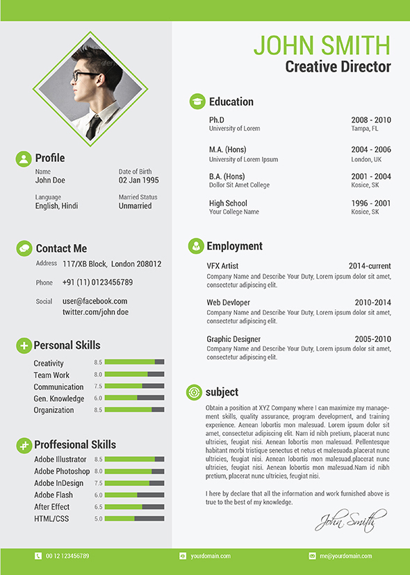 resume template basic