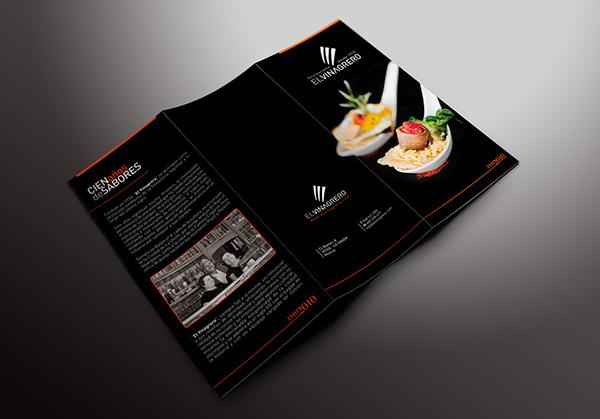 restaurant Food  Logotype Stationery trifold gastronomy BCARD restaurante gastronomia alimentación Logotipo Papelería corporativa tarjeta triptico modern