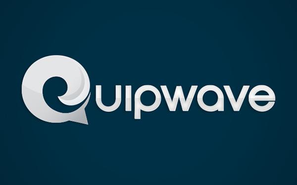 Quipwave  identity logo tech social media