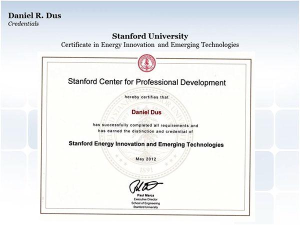 Stanford University Certificate In Energy Innovation On Behance