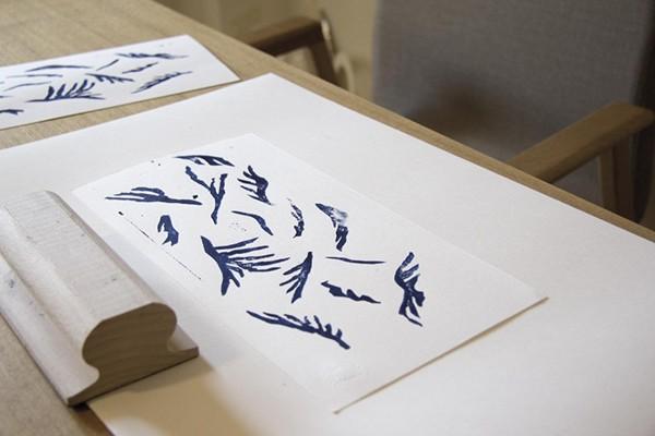 handmade block print Riso Print concert the portuguese conspiracy paus filho da mãe poster blue red ditto Press