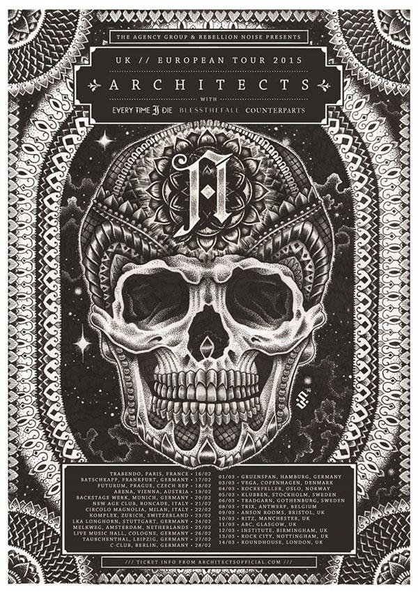 Architects 2015 European Tour poster