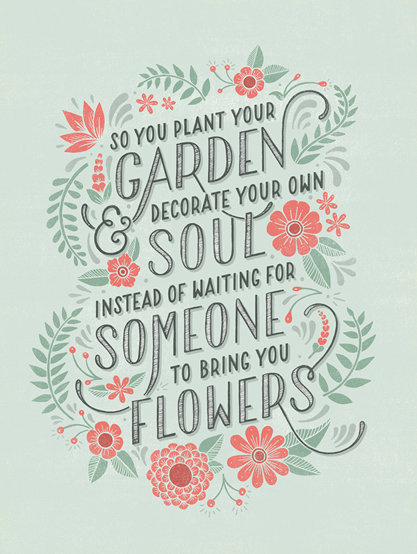plant your own garden on behance
