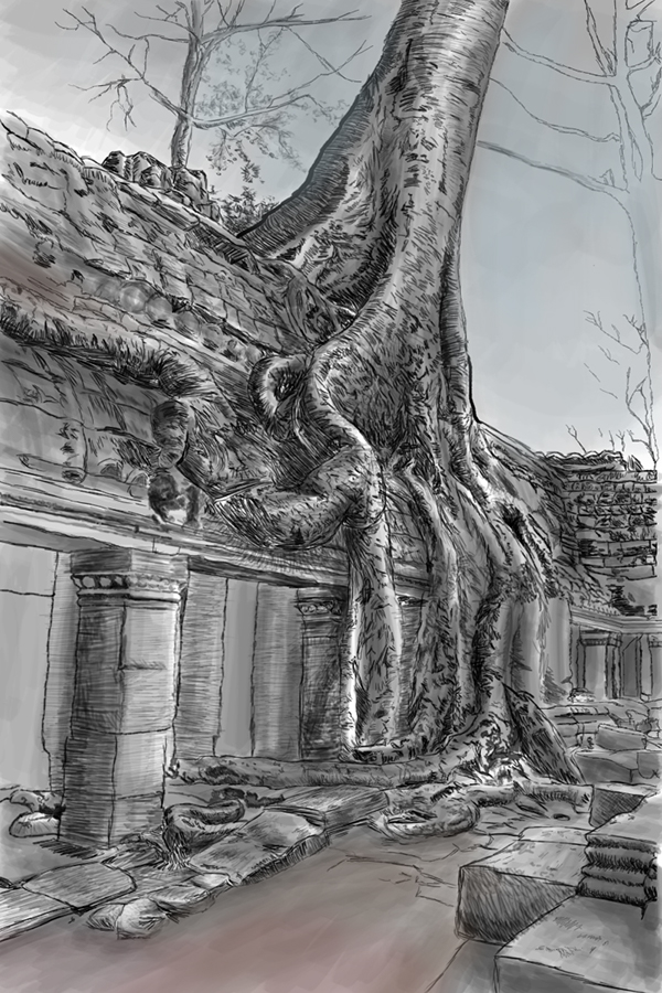 It's just a picture of Influential Angkor Wat Drawing