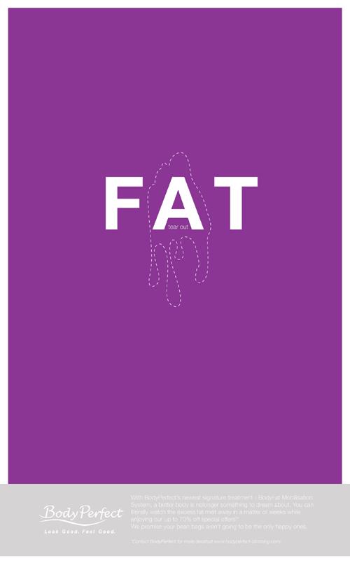 BodyPerfect Slimming Service (Print Ad) on Behance