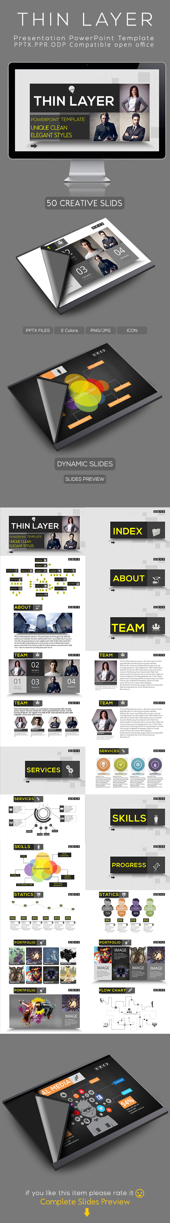 thin layer powerpoint presentation template on behance, Montuca Powerpoint Presentation Template Download, Presentation templates