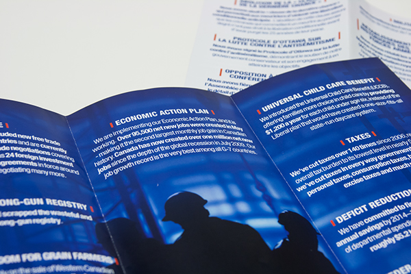 Prty Brochure   Conservative Party Of Canada Brochure On Behance