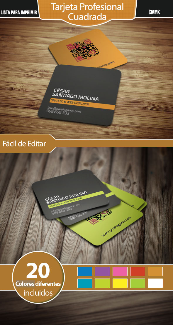 Free Professional Square Business Card on Behance