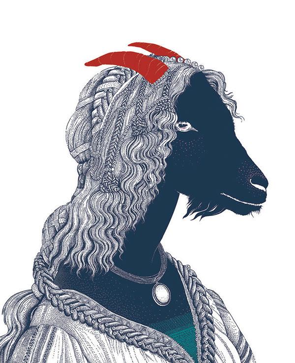 Poster Bucktown Arts Fest by Lara Quatrini