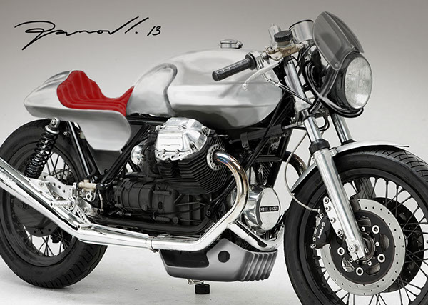 moto guzzi le mans 3 custom tail and front on behance. Black Bedroom Furniture Sets. Home Design Ideas