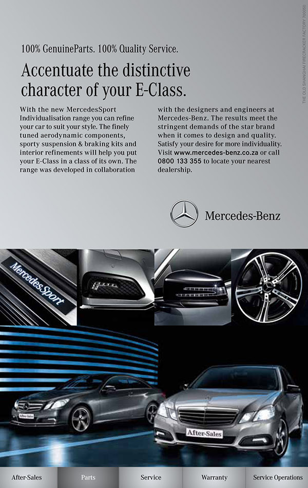 mercedes benz print ads on behance