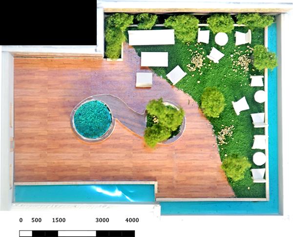 Sophia alzheimer center on behance for Roof garden floor plan