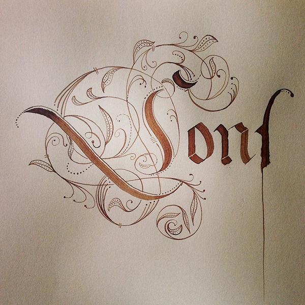 Fraktur Calligraphy On Behance