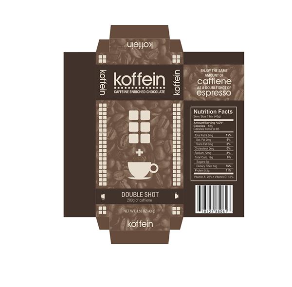 Koffein Chocolate Bar Packaging on Behance