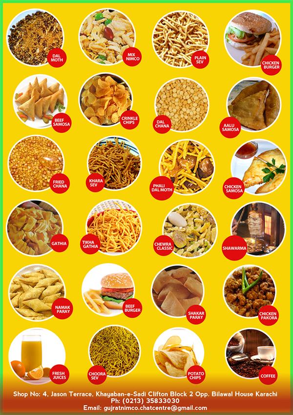 Food  nimco flyer menu brochure