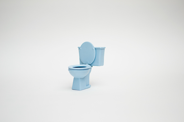 lathan vargason MICA competitive scholarship Miniature toilet sculpture object small dollhouse