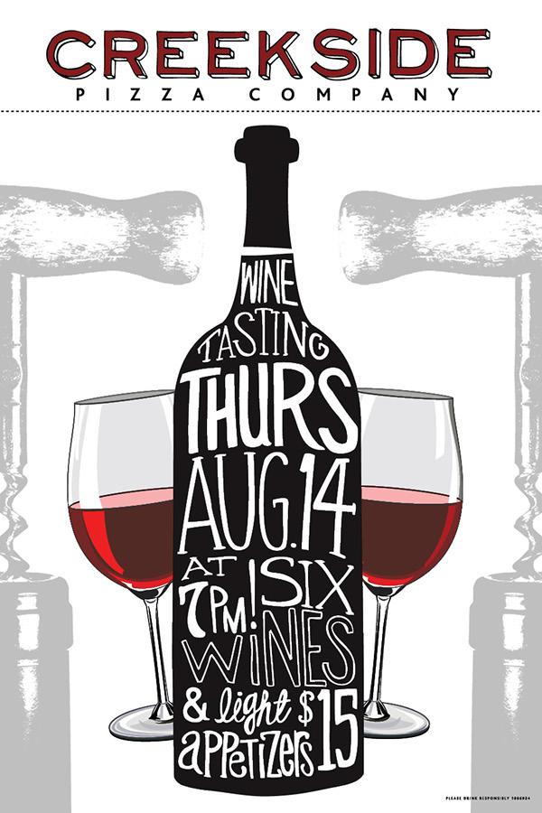 Creekside Wine Tasting Poster