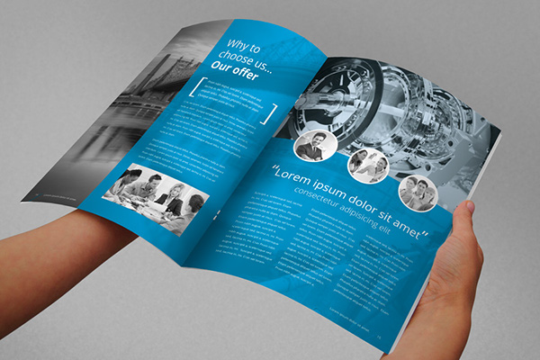 Annual Report Brochure Indesign is a template for creative business 6Dw1bDn7
