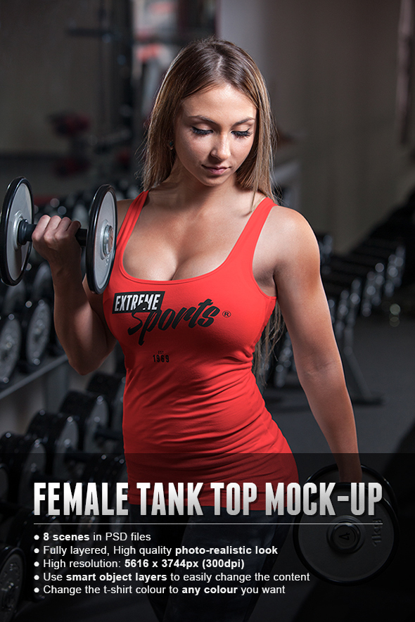 female fitness gym tank top sport t