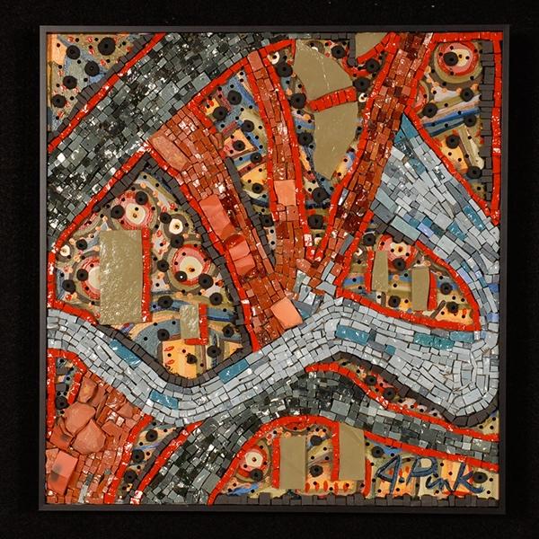 Mixed Media Mosaic Fine Art Mosaic Crash Glass Mosaic micro mosaic Traditional Technique Mosaic Modern Contemporary Mosaic