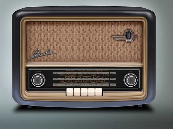 vintage bush radio with photoshop cs5 on behance