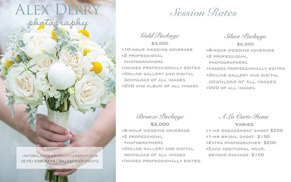 Wedding Photography Rate: Photography Rate Card On Behance