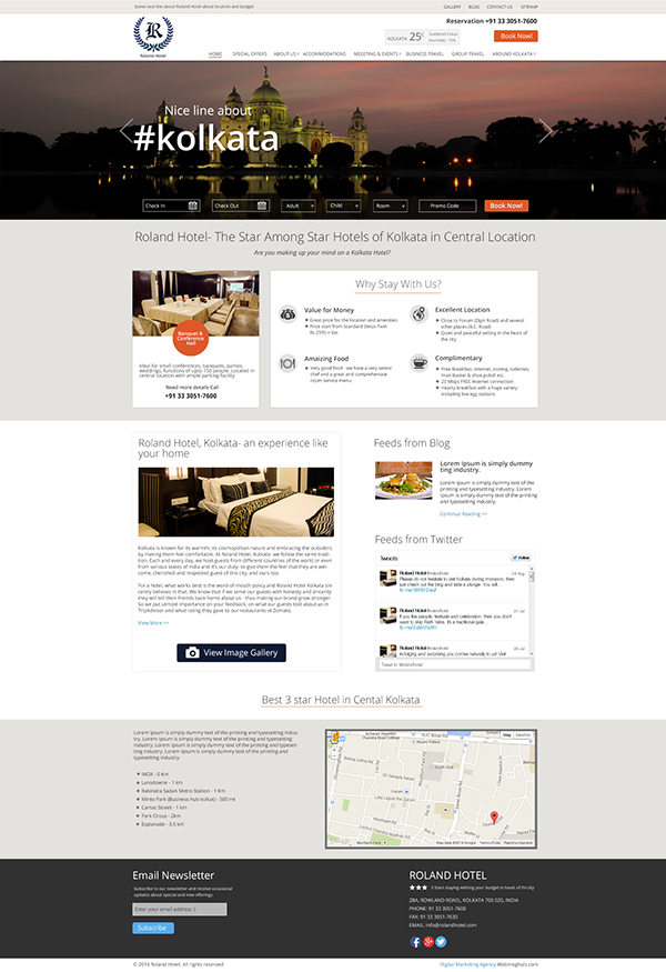 Hotel website design on pantone canvas gallery for Hotel web design