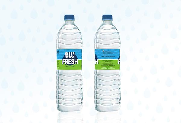 Blu fresh packaged mineral water logo label design on for Fresh design