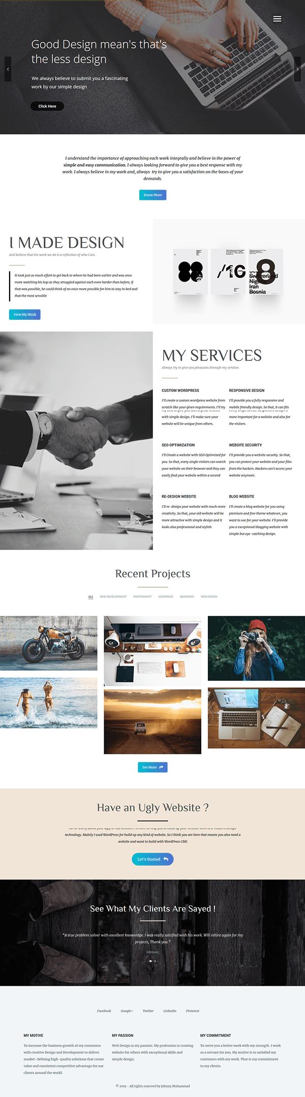 Mash Portfolio Site