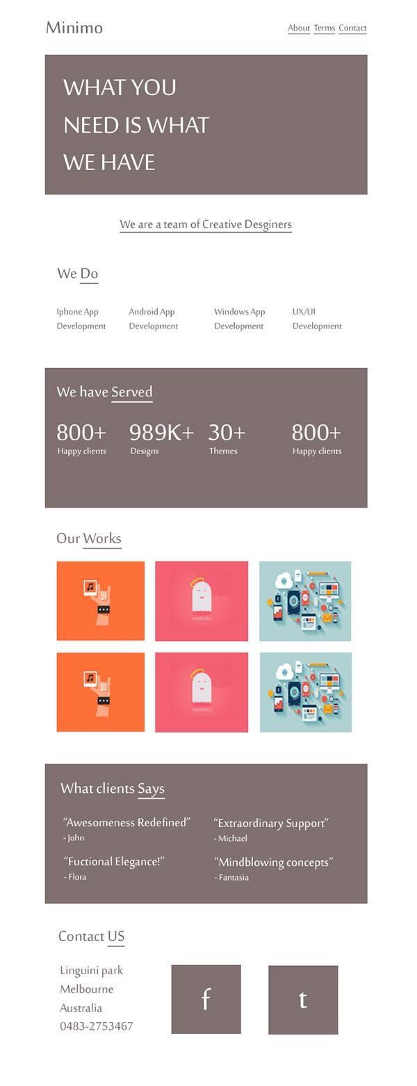 Agency Theme html5 css3 minimal
