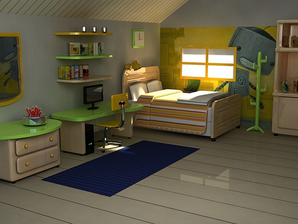 3D Quarto Infantil on Behance