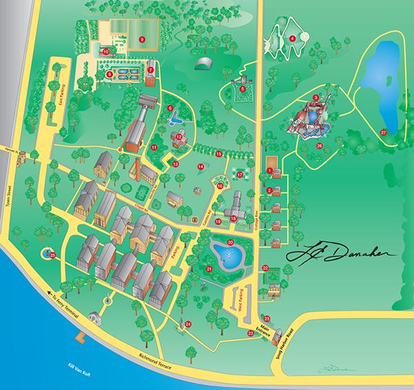 Staten Island Botanical Garden Illustrated Map On Behance
