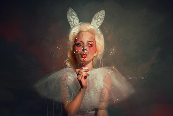 Editing ,photomanipulation,postproduction,bunny,model