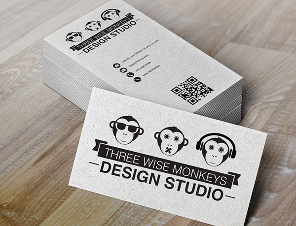 Three wise monkeys on behance a mock up business card design which inspired by the three wise monkeys reheart Images